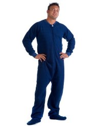 Footed Pajamas Cozy Blue II Adult Fleece:Unisex, Relaxed fit, Front zipper,100% Polyester Super Cozy Fleece.Versatile - lounge, layer, sleep, play with Matching Family/Pet Sets.