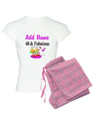 PERSONALIZED 40 YR OLD Women's Light Pajamas Women's Light Pajamas:40 year old birthday designs on T Shirts, Apparel and Gifts. Birthdays come only once a year so make it special with this personalized 40th birthday gift.