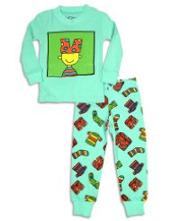 Planet Color by Todd Parr - Toddler Boys Long Sleeve Silly Boy Pajamas, Blue:Ribbed Neck And Cuff Wrists, Silly Boy Screen Print, Clothes Print Pant, Full Elastic Waistband, Ribbed Cuff Ankles.SIZES-2-6.S-M-L-XL.