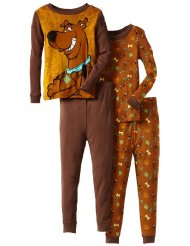 Presonalized Scooby Doo Boys/Girls All About Scooby Pajama Top and Bottom 2 Pack Set:100% cotton knit Machine Wash/Customer Reviews are 4.0 out of 5.0 stars-My son is in love with these - good thing they had 2 in the set - He wont wear any of his other PJ.